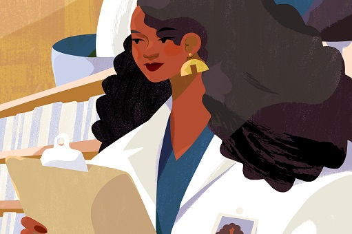 Illustration of woman doctor